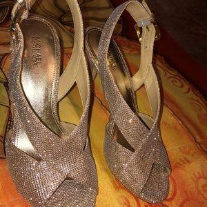 Michael Kors  glitter evening sandals